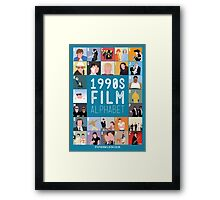 1990's Film Alphabet Framed Print