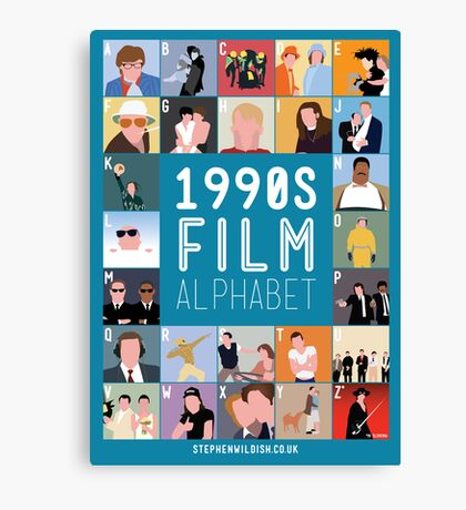 1990's Film Alphabet Canvas Print