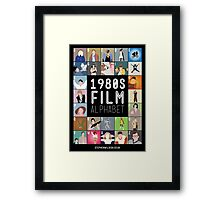 1980's Film Alphabet Framed Print