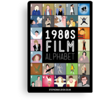 1980's Film Alphabet Canvas Print