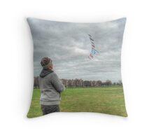 The Kite Flag Flyer of Bristol Durdham Downs. Throw Pillow
