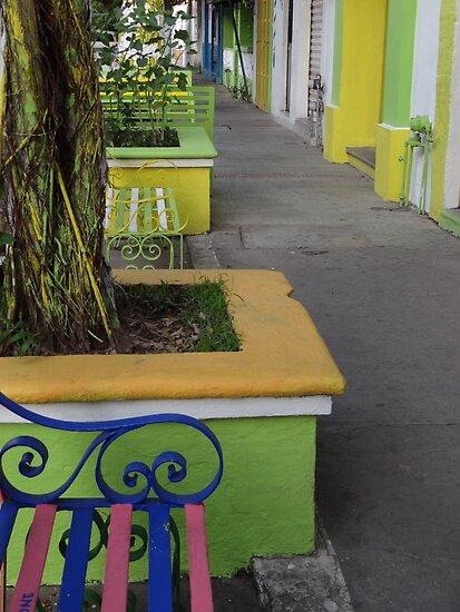 The Coloured Neighborhood - La Vecindad De Colores by Bernhard Matejka