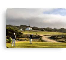 Golfing at the Lighthouse Canvas Print