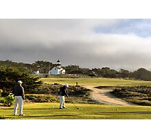 Golfing at the Lighthouse Photographic Print