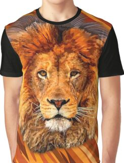 Old Lion Digital art Painting Graphic T-Shirt
