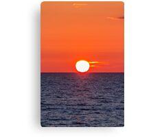 Orange sunset II Canvas Print