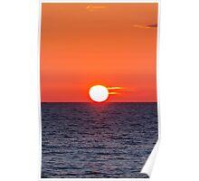 Orange sunset II Poster