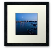 Wexford Harbour at dusk Framed Print