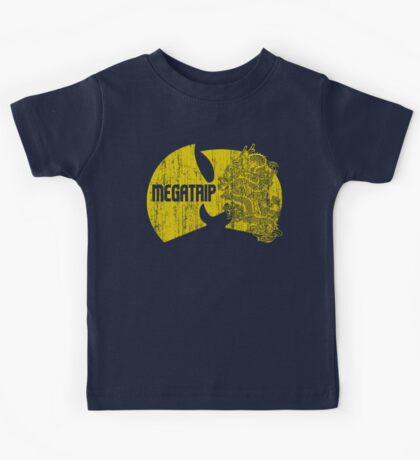 Megatrip (nuthing ta f' wit - yellow gold variant) Kids Tee