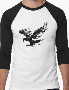 Flaming Tribal Eagle Men's Baseball ¾ T-Shirt