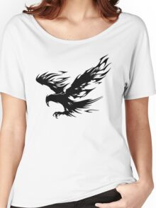 Flaming Tribal Eagle Women's Relaxed Fit T-Shirt