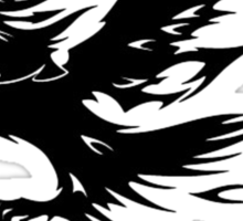 Flaming Tribal Eagle Sticker