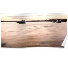Wexford Harbour at sunset Poster