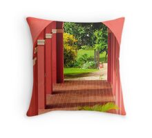 Old San Juan Archway Throw Pillow