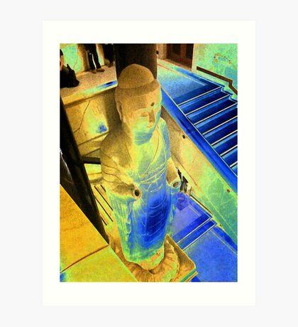 Budda Blue Art Print