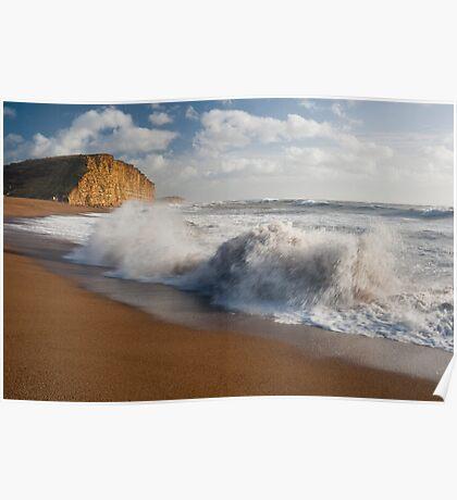 East beach surf Poster