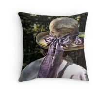 Hat on Her Head Throw Pillow