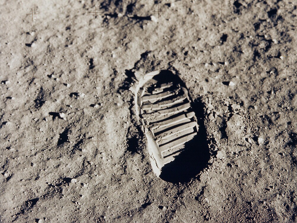 Bootprint on the Moon by Jeff Vorzimmer