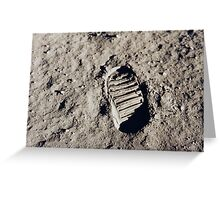 Bootprint on the Moon Greeting Card