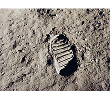 Bootprint on the Moon Photographic Print
