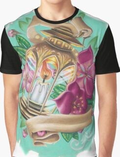 lantern with cherry blossoms Graphic T-Shirt