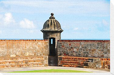 Old San Juan Gun Tower by Lee Walters Photography