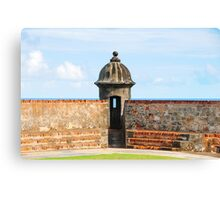 Old San Juan Gun Tower Canvas Print
