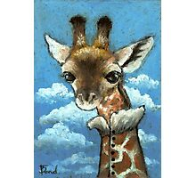 Romantic giraffe Photographic Print