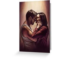 Outlaw Queen Nose Kiss Greeting Card