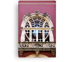 Art Nouveau window, Coimbra  Canvas Print