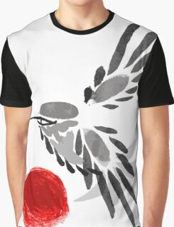watercolor drawing bird, robin at white background, hand drawn vector illustration Graphic T-Shirt