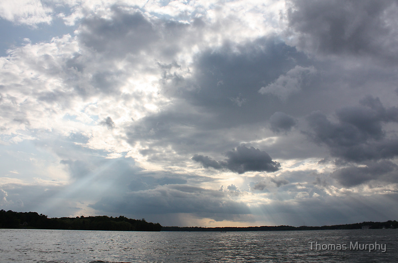 Clouds Over Lake  by Thomas Murphy
