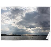Clouds Over Lake  Poster