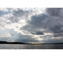 Clouds Over Lake  Photographic Print