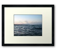 Horizon Crown of Clouds Framed Print