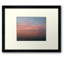 Pink Clouds over Lake Michigan  Framed Print