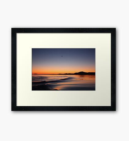 Sunset on Lake Wisconsin Framed Print