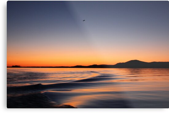 Sunset on Lake Wisconsin by Thomas Murphy
