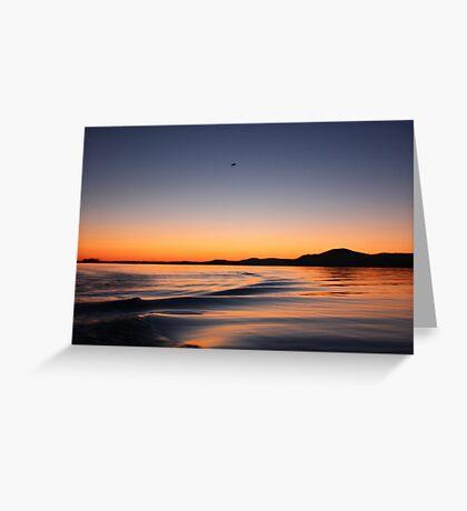 Sunset on Lake Wisconsin Greeting Card