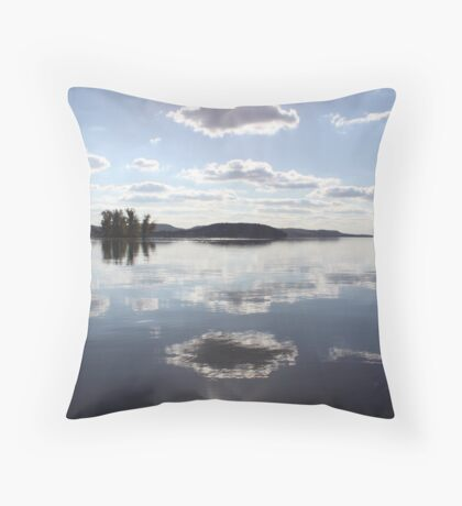Mirror Clouds on Lake Wisconsin Throw Pillow