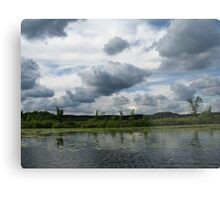Majestic Clouds over Lake Metal Print