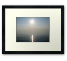 Sun Ray over Lake Michigan Framed Print