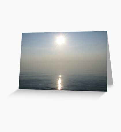 Sun Ray over Lake Michigan Greeting Card