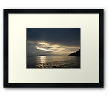 Time Rift Clouds over Lake Michigan 452 Framed Print