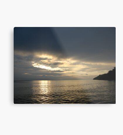 Time Rift Clouds over Lake Michigan 452 Metal Print
