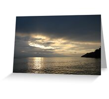 Time Rift Clouds over Lake Michigan 452 Greeting Card