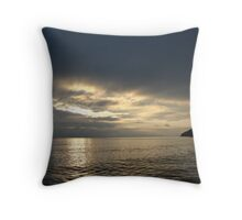 Time Rift Clouds over Lake Michigan 452 Throw Pillow
