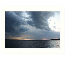 Threatening Clouds Art Print