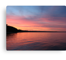 Beautiful Sunset on Lake Michigan  Canvas Print