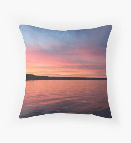 Beautiful Sunset on Lake Michigan  Throw Pillow